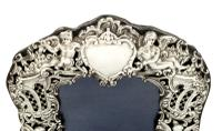 """Antique Victorian Sterling Silver 8 1/2"""" Photo Frame 1894 (5 of 11)"""