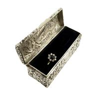 Antique Victorian Sterling Silver Ring Box 1893 (8 of 10)