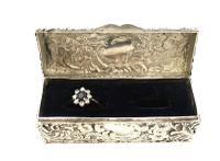 Antique Victorian Sterling Silver Ring Box 1893 (2 of 10)