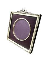 Antique Edwardian Sterling Silver 'Bow / Ribbon' Photo Frame 1902 (7 of 9)