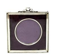 Antique Edwardian Sterling Silver 'Bow / Ribbon' Photo Frame 1902 (8 of 9)