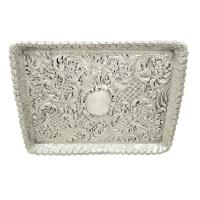 Antique Victorian Sterling Silver Dressing Tray 1900