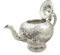 Antique Victorian Scottish Sterling Silver Teapot 1862 (3 of 11)