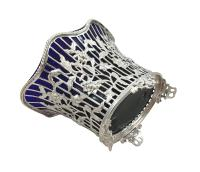Antique Victorian Sterling Silver with Blue Glass Liner 1899 (7 of 12)