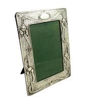 Antique Art Nouveau Sterling Silver Photo Frame 1904 (9 of 9)