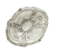 """Antique Edwardian Sterling Silver 11"""" Basket 1905 (3 of 10)"""