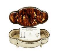 "Antique Edwardian Sterling Silver & Tortoiseshell 7"" Trinket Box 1910 (2 of 10)"