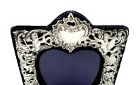 Antique Victorian Sterling Silver 'Cherubs' Photo Frame 1896 (2 of 10)