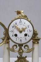 French Louis XVI Style White Marble Mantel Clock by Samuel Marti (2 of 7)