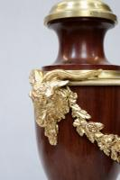 Pair of French Belle Époque Mahogany & Bronze Gilt Table Lamps (5 of 7)