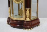 French Belle Epoque Mahogany Four Glass Mantel Clock by Japy Freres (3 of 8)