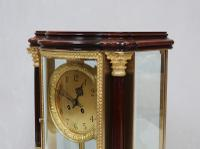French Belle Epoque Mahogany Four Glass Mantel Clock by Japy Freres (4 of 8)