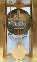 French Belle Epoque Mahogany Four Glass Mantel Clock by Japy Freres (8 of 8)