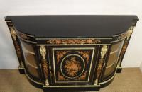 Victorian Ebonised & Marquetry Display Cabinet (3 of 8)