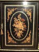 Victorian Ebonised & Marquetry Display Cabinet (4 of 8)