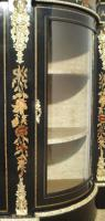 Victorian Ebonised & Marquetry Display Cabinet (7 of 8)