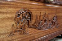 Early 20th Century Oriental Carved Teak & Camphor Wood Chest (6 of 12)