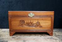 Early 20th Century Oriental Carved Teak & Camphor Wood Chest (5 of 12)