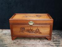 Early 20th Century Oriental Carved Teak & Camphor Wood Chest (2 of 12)