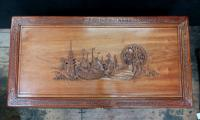 Early 20th Century Oriental Carved Teak & Camphor Wood Chest (3 of 12)