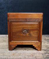 Early 20th Century Oriental Carved Teak & Camphor Wood Chest (11 of 12)