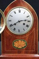 French Belle Époque Mahogany & Inlaid Mantel Clock (3 of 7)