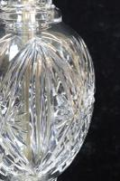 Pair of American Hollywood Regency Cut Crystal Glass Lamps attributed to Paul Hanson (5 of 8)