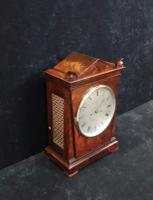 George IV Mahogany Bracket Clock by Hampson & Son (9 of 9)