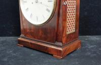 George IV Mahogany Bracket Clock by Hampson & Son (4 of 9)