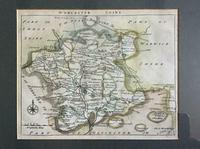 1750 Map of Worcestershire by John Rocque
