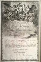 1780 Frontispiece to a Monseigneur Le Duc D' Orléans Premier Prince Du Sang