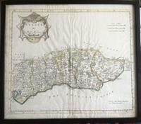 1720  Map of  Sussex  by  Robert Morden