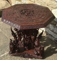 Hand Carved Burmese Occasional Table C.1900