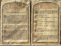 Huge Pair of Hand Painted Religious Panels On Cotton of the Ten Commandments C.1850