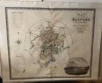 1834 County Map of Bedford by C & J Greenwood
