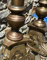 Pair of Large Bronze Candlesticks c.1880 (4 of 6)