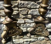 Pair of Large Bronze Candlesticks c.1880 (6 of 6)