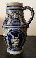 Large German Vase Decorated with Angels c.1880