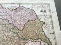 1640s Hand Coloured Map of Yorkshire by Jan Jannson (3 of 5)