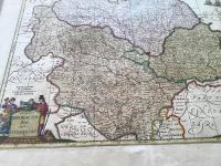 1640s Hand Coloured Map of Yorkshire by Jan Jannson (5 of 5)