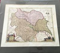 1640s Hand Coloured Map of Yorkshire by Jan Jannson