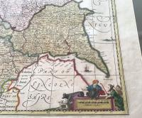 1640s Hand Coloured Map of Yorkshire by Jan Jannson (2 of 5)