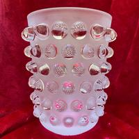 """Lalique """"Mossi"""" Vase in Clear and Frosted Glass with Original Label and Box (2 of 8)"""