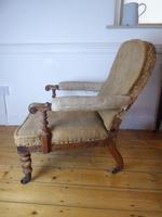 19th Century Walnut Armchair (4 of 8)