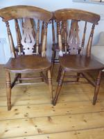 Set of 4 19th Century Kitchen Chairs (2 of 8)