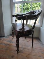 19th Century Leather Desk Chair (5 of 5)
