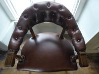 19th Century Leather Desk Chair (4 of 5)