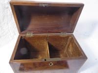18th Century Yew Wood Tea Caddy (3 of 8)