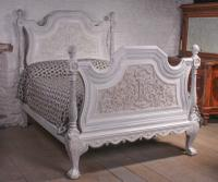 Magnificent Mid 19th Century Painted King Size Italian Bed