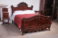 Exquisite Carved Rosewood Louis XV Style Rococo 5ft King Size Bed